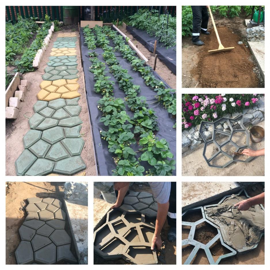 Фото садовых дорожек сделанных своими руками