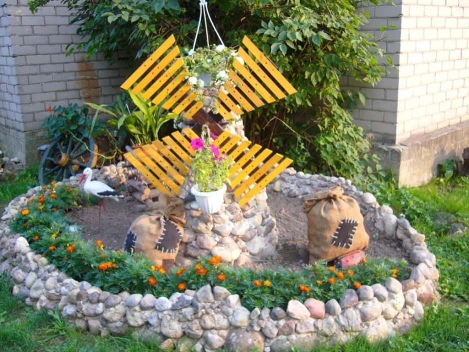 Оригинальные декорации для сада своими руками