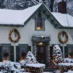 дом украшенный к празднику