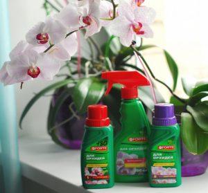 3 баночки с удобрениями для орхидеи