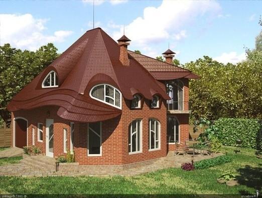 дом коричневого цвета