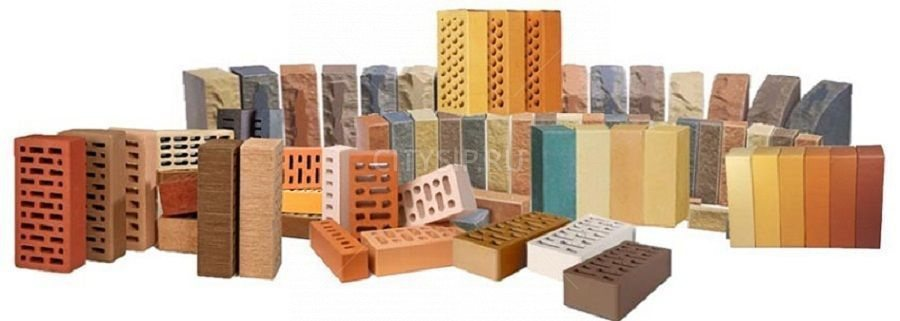 кирпичи керамические различных цветов