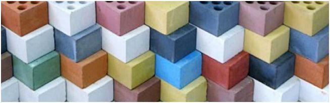 силикатные кирпичи различного цвета