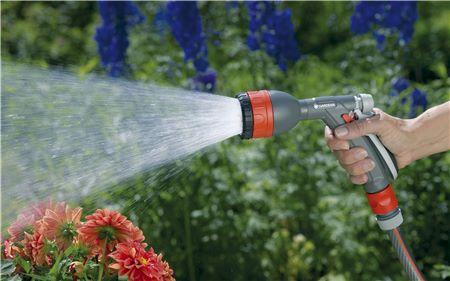 полив цветов из распылителя